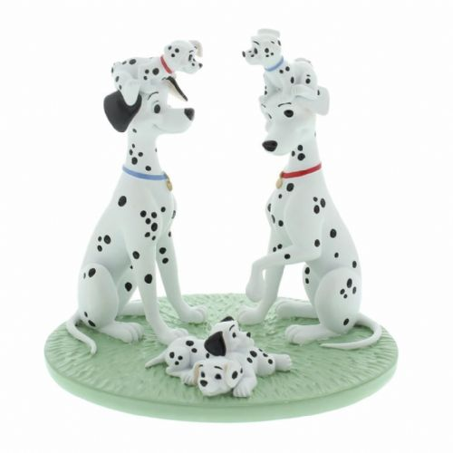 Disney Magical Moments Collectable Figurines - 101 Dalmations Pongo and Purdy with Puppies 'Special Family'